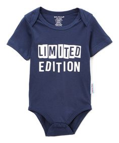 Look what I found on #zulily! Navy & Gray 'Limited Edition' Bodysuit - Infant #zulilyfinds