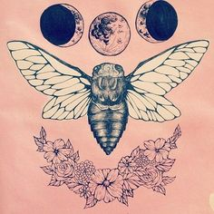 bug tattoos | would replace the bee with something else but love this idea
