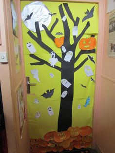 Porte de classe d co porte pinterest printemps for Idee decoration porte halloween