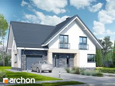 Dom w orliczkach (P) Best House Plans, Design Case, House Front, Home Fashion, Facade, Sweet Home, Shed, Villa, Exterior