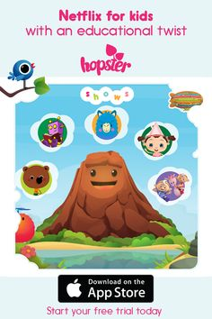 Hopster is the premium preschool education and entertainment app  _ Award winning kids tv shows _ Fun learning games _ Sing-a-long music & nursery rhymes  Start Your 7 day free trial today. No contract.