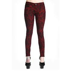 Ripped Metal skinny jeans met ketting detail zwart - Gothic Metal ...
