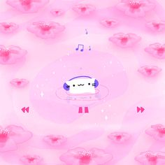"""applemusic: """"Playlist: Jacuzzi Party Sing-AlongsJacuzzi cat is pleased.  (Art by @cindysuen) Listen to the playlist now. """" Forever in a jacuzzi!!"""