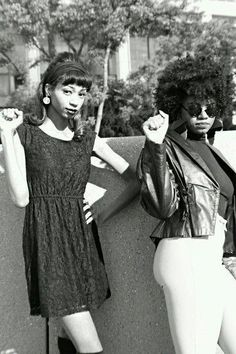 Black Power My Sisters! Black Panther Party, My Black Is Beautiful, Beautiful People, Vintage Black Glamour, Grunge, Black History Facts, Normcore, African Diaspora, Black Pride