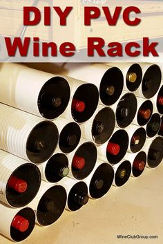 How to create your own wine rack out of PVC. Our DIY PVC wine rack is cheap and easy! Pvc Pipe Crafts, Wine Stand, Wine Glass Rack, Wine Racks, Pallet Wine, Make Your Own Wine, Wine Gift Baskets, Wine Craft, Baby Food Jars