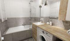 łazienki w stylu skandynawskim - Mała łazienka w bloku bez okna, styl nowoczesny - zdjęcie od Grafika i Projekt architektura wnętrz