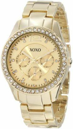 Best Buy XOXO Womens XO5475 Gold-Tone Bracelet With Rhinestones Accent Bezel Watch at http://get.nazuka.net/review/product.php?asin=B007X0DWW8