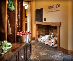 dog crate reveiws Pretty igloo dog house in Entry Rustic with Laundry Shoot next to Fireplace Hearth Ideas alongside Dog Room and Laundry Chute Igloo Dog House, Dog Houses, Animal Room, Dog Nook, Laundry Shoot, Casa Loft, Dog Spaces, Diy Dog Bed, Cool Dog Beds