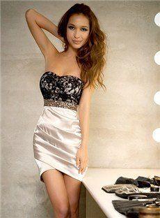 New Off-Shoulder Paillette Lace Dress