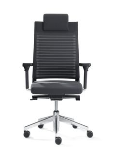 SLAT 16 work chair with high backrest (fabric 60 - 3D) and headrest, model SLS323