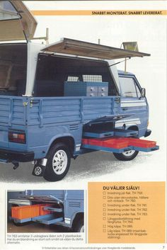 Image may have been reduced in size. Click image to view fullscreen. T3 Vw, Volkswagen Type 3, Audi, Porsche, Ww Transporter, Truck Roof Rack, Vw Syncro, Vw Pickup, Kombi Home