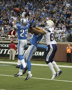 Chris Houston intercepts a Phillip Rivers pass like a man.