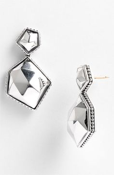 Lagos 'Silver Rocks' Angled Drop Earrings available at #Nordstrom