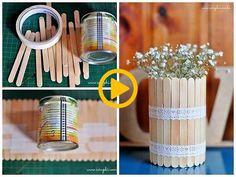 diy and creatividad 圖片 – DIY Home Decor Popsicle Stick Crafts, Craft Stick Crafts, Diy For Kids, Crafts For Kids, Art Diy, Diy Home Crafts, Diy Tutorial, Diy Room Decor, Home Decor