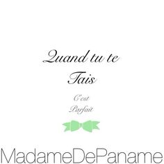 #MadameDePaname