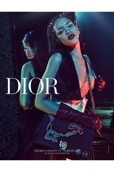 "Rihanna for Dior ""Secret Garden"" 2015 Campaign by Steven Klein"