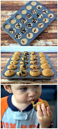 Mini Whole Wheat Pancake Muffins Recipe for Kids at Breakfast time! #Healthy #Pancake bites