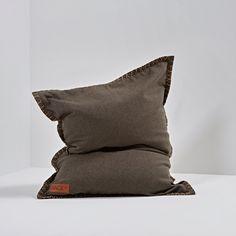 SACKit Sitzsack SQUAREit junior Cobana, braun Mullets, Bean Bag, Indoor Outdoor, Throw Pillows, Brown, Bags, Danish Design, Colour Gray, Scandinavian