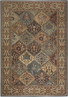 Rizzy Home BV3199 Bellevue Power Loomed Polypropylene Rug Multi 2 1/4 x 7 1/2 Home Decor Rugs Rugs