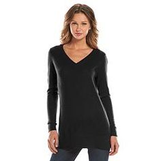 Women's Apt. 9® Cashmere V-neck Sweater Tunic