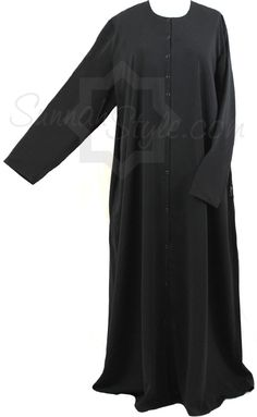 Essential Snap-Front Abaya (Black) by Sunnah Style #SunnahStyle #abayastyle #IslamicClothing