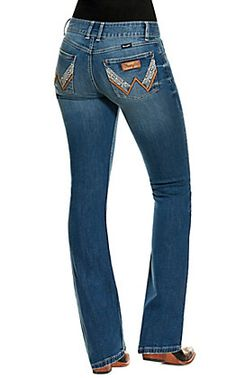 Wrangler Women's Willow Ultimate Riding Jean Light Wash Mid Rise Boot Cut Jeans   Cavender's Women's Jeans, Cut Jeans, Skinny Jeans, Classic Outfits For Women, Country Wear, Wrangler Jeans, Head To Toe, Chloe, Bling