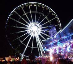 Crowds of 1000s enjoy the rides and attractions of the famous Winter wonderland, held yearly at Hyde park, London
