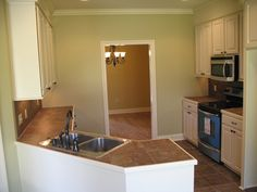 Cool new kitchen photo from one of our clients that just built our plan HPG-1934B-1 from http://www.houseplangallery.com/index_files/house-plans-prod_detail.php?planid=HPG-1934B-1.