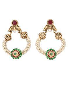 Pearly delights from Zaveri Bazaar in India. Get them here: http://rutbaa.com/brands/jorie-bazaar.html/