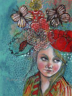 Vous rêvez de vous-9 x 12 beaux-arts par MariaPaceWynters sur Etsy