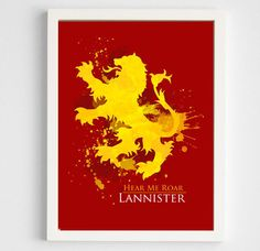 Game of Thrones: House Lannister Poster / Digital by geektragedy
