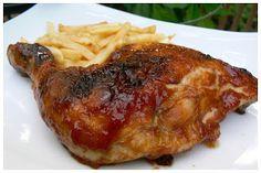 Le palais gourmand: Cuisses de poulet BBQ à la sauce «célèbre»