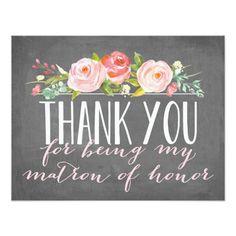 Matron of Honor Thank You | Bridesmaid