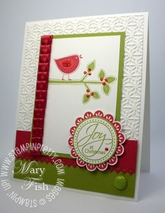 Stampin up demonstrator holiday card idea best of everything rubber stamps mojo monday