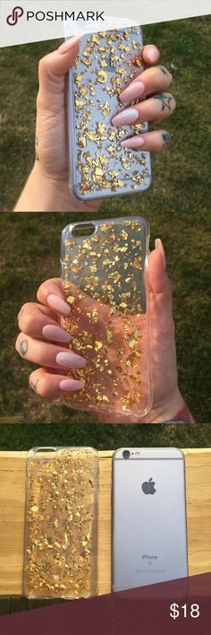 ⚡️FLASH SALE⚡️GOLD FOIL iPhone 6/6s Soft Case Add ✨glam✨ to you iPhone 6/6s with this beautiful gold foil, back cover, soft case!  •material: Thermoplastic Polyurethane (resistance to oil, grease, & abrasions) •lightweight & easy to carry •drop resistant! Protect your phone from scratches •Anti-crash & fashionable design •precise molding & perfect fit!  NOTE: FLAKING IN EACH CASE IS DIFFERENT!!  ❓Any questions, feel free to ask!  NO TRADES ‼️PRICE IS FIRM‼  NOT URBAN OUTFITTERS BRAND. Just…