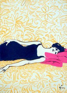 Sunday morning  Rene Gruau  via http://hoodoothatvoodoo.tumblr.com/post/24731646550