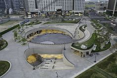 Gallery of Magok Central Plaza / Wooridongin Architects - 1 Architecture Triangle, Plans Architecture, Landscape Architecture Design, Commercial Architecture, Ancient Architecture, Sustainable Architecture, Design Plaza, Architecture Classique, Central Plaza