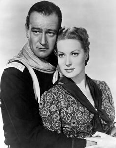 John Wayne and Maureen O'Hara - publicity photo for Rio Grande (1950)