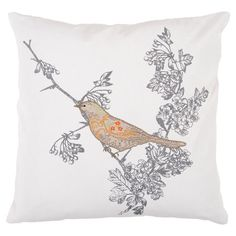 I pinned this Botanique Pillow in Charcoal Gray from the Surya Pillows & Throws event at Joss and Main!