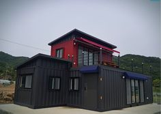 Container House Gyeongbuk Seongju Container House - Südkorea - Container Hacker Arming Your Kitchen Cargo Container Homes, Storage Container Homes, Container Cabin, Container House Design, Shipping Container Homes, Container Houses, Shipping Containers, Modern Tiny House, Tiny House Design