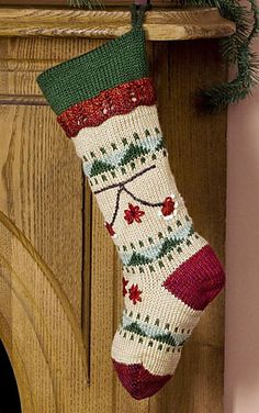 Ravelry: Folkways Christmas Stocking pattern by Kathy Perry