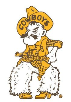 "Pistol Pete University of Wyoming Vinyl Sticker/Decal 16"" Tall Brown and Gold"