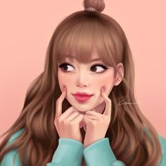 Check out Blackpink @ Iomoio Girl Cartoon, Cartoon Art, Lisa Blackpink Wallpaper, Black Pink Kpop, Cute Girl Drawing, Girly Drawings, Blackpink Photos, Digital Art Girl, Pink Art