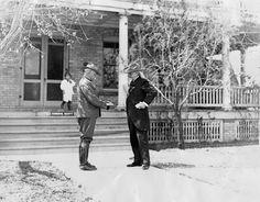General Hugh L. Scott greets Buffalo Bill Cody in El Paso, 1913
