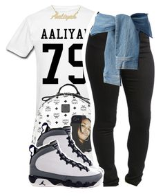 """Untitled #1013"" by ayline-somindless4rayray ❤ liked on Polyvore featuring MCM and DKNY"