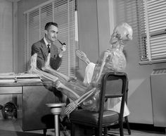 Los Alamos chemist, Wright H. Langham with Plastic Man, used to simulate human radiation exposures, 1959. | www.eklectica.in