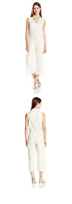 c1f6781b0d2d Milly Women s Stretch Silk Crepe Strapless Culotte Jumpsuit