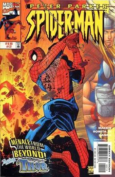 Peter Parker Spider-Man 2 Marvel Comics covers