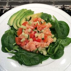 Quick and healthy salmon salad
