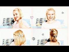 9 TIPS Peinados simples para la escuela para pelo corto